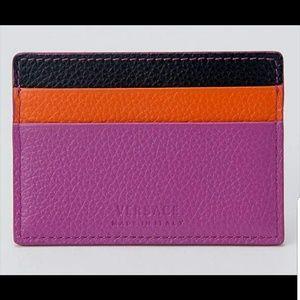 Versace Bags - Versace Medusa Leather Credit Card Slim Wallet